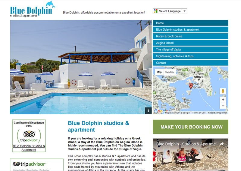 Accommodation in Vagia on Aegina island