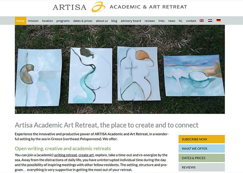 Artisa Academic Art Retreat, the place to create and to connect