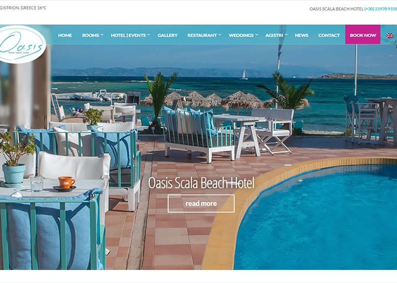 Hotel on Agistri island in Greece